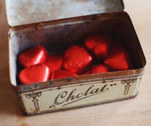 chocolate, heart, and sweet image
