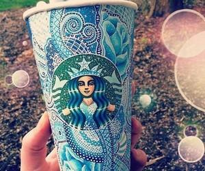starbucks, blue, and art image