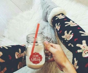 christmas, cozy, and drinks image