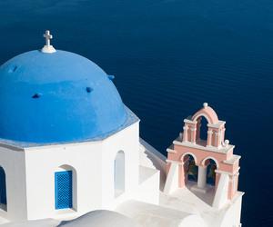 Greece and santorini image