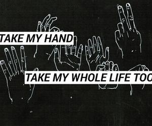 black and white, Lyrics, and song image