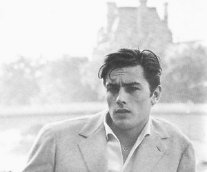 Alain Delon, vintage, and actor image