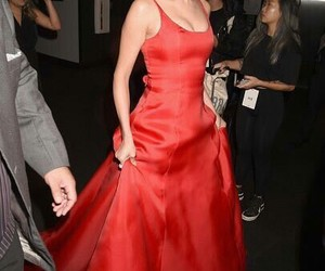 selena gomez, red, and american music awards image
