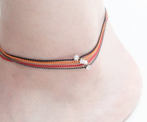 silver, anklet, and charm anklet image
