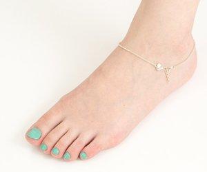 bracelet, body jewelry, and foot bracelet image