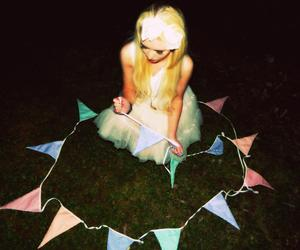 blonde, bow, and bunting image