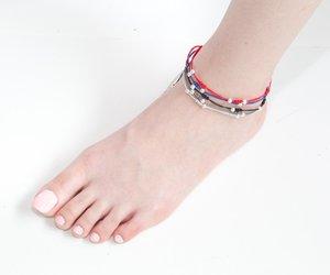 silver, anklet, and bracelet image