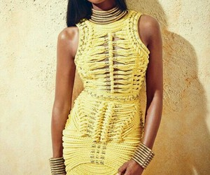 model, dress, and Naomi Campbell image