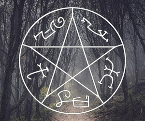 demon, forest, and nature image