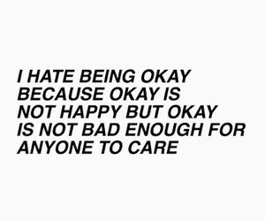 quotes, sad, and okay image