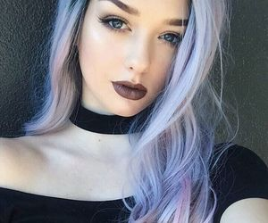purple hair, pastel hair, and pastel hair color image