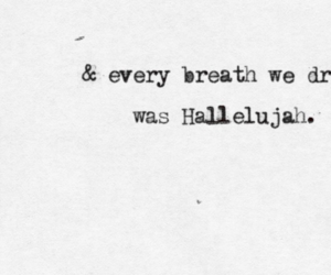 hallelujah, quote, and Lyrics image