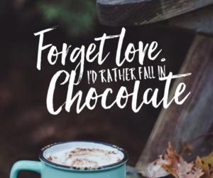 chocolate, love, and autumn image