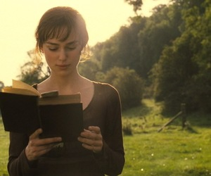 book, pride and prejudice, and keira knightley image