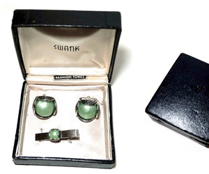 formal wear, vintage cufflinks, and 50s 60s mens jewelry image