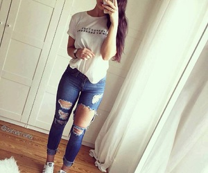 casual, outfit, and chic image