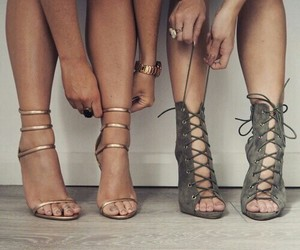 heels, friends, and shoes image