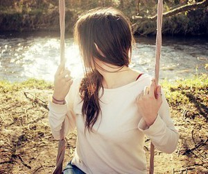 girl, photography, and swing image