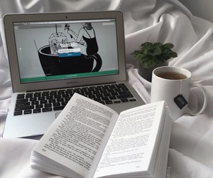 book, tumblr, and plants image