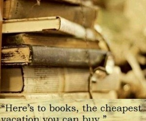 book, quotes, and vacation image