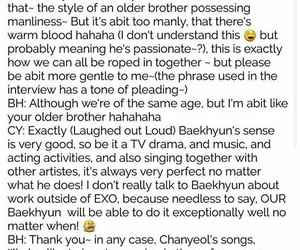 exo, interview, and chanbaek image
