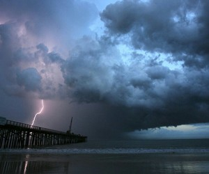 lightning, blue, and clouds image