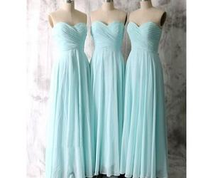 dress, bridesmaid dresses, and long bridesmaid dress image