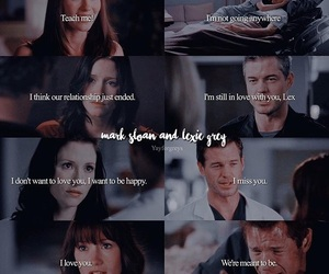 love story, grey's anatomy, and mark and lexie image