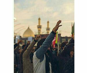 الحشد الشعبي المقدس, شيعة علي الامام علي, and رمزيات حسينية image