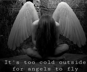 angel, fly, and girl image