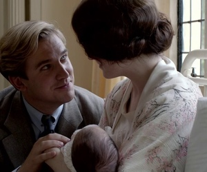 downton abbey, lady mary, and matthew crawley image