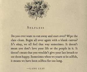 Lang Leav, selfless, and poetry image