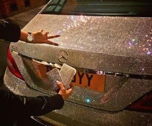 car, luxury, and diamond image