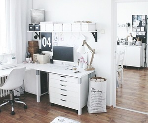 desk, rooms, and white image