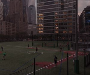 city, evening, and football image