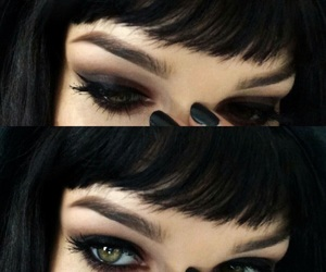 black, eyes, and makeup image