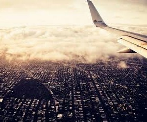 travel, airplane, and landscape image