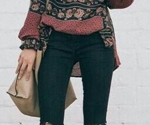 boho, winter, and fashion image