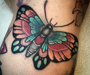 butterfly, tatoeage, and tattoo image