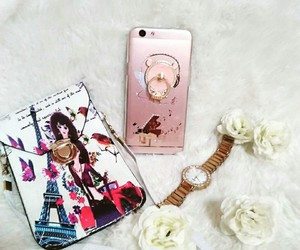 rose gold, flatlays, and new case image