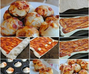 diy, pizza, and cupcake image