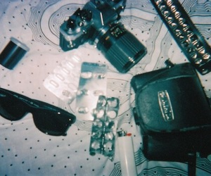 camera, hipster, and pills image