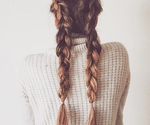 braids, girl, and cold image