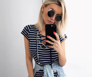 blonde, inspiration, and stripes image