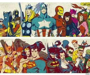 Marvel, DC, and batman image