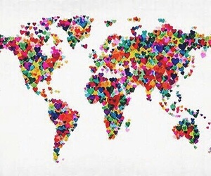 map, love, and world image