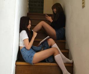 asian girls, bff, and japan image