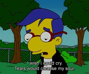 sad, cry, and simpsons image