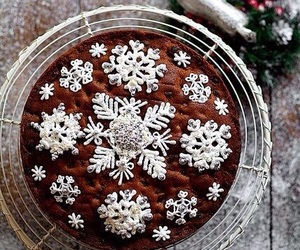 christmas, winter, and cake image