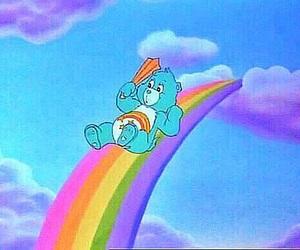 care bears, rainbow, and cute image